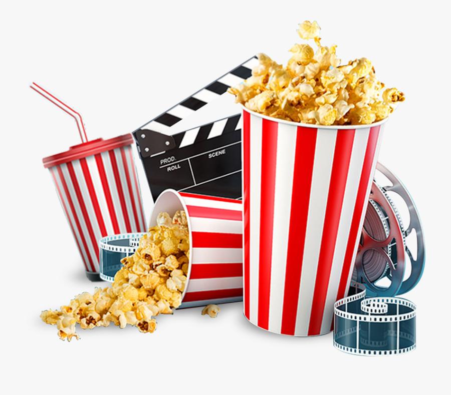 Transparent Movie Theater Popcorn Clipart.