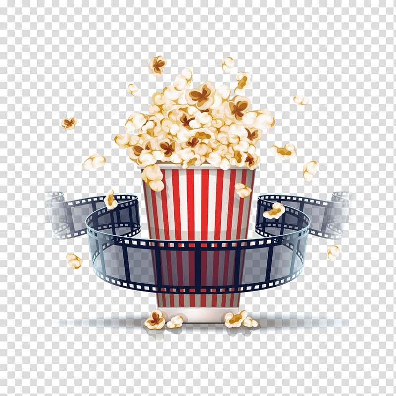 Popcorn Film illustration Cinema, Popcorn and film, popcorn.