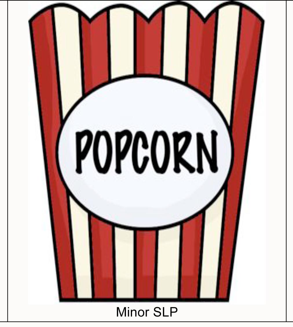 Popcorn kernel outline clipart.