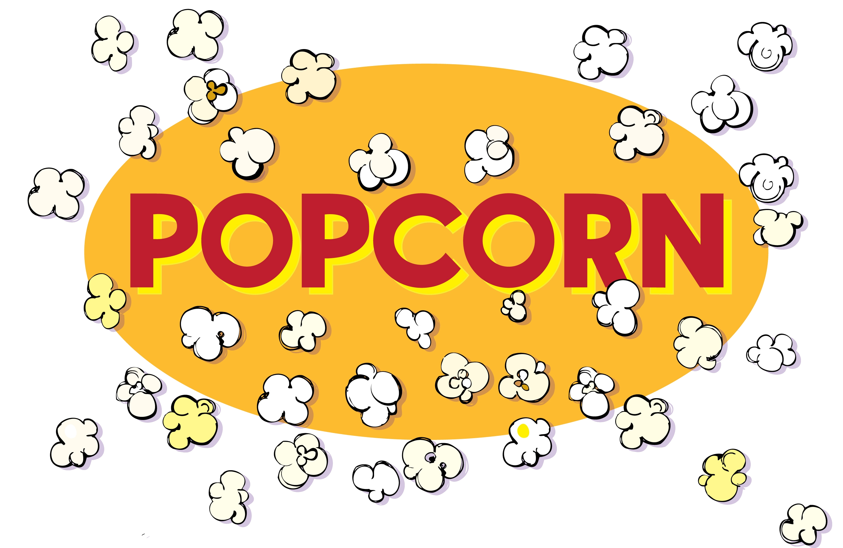 Popcorn Black And White Popping Clipart Transparent Png.