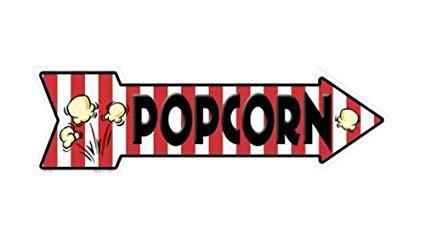 Smart Blonde Outdoor Decor Popcorn Novelty Metal Arrow Sign A.
