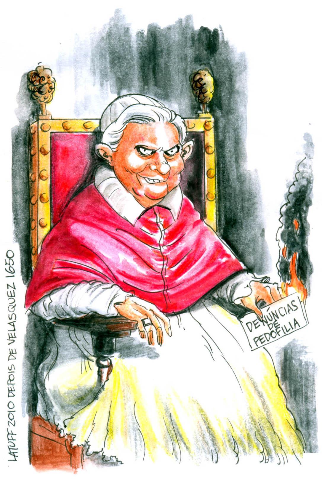 Pope Benedict XVI portrait by Latuff2 on DeviantArt.