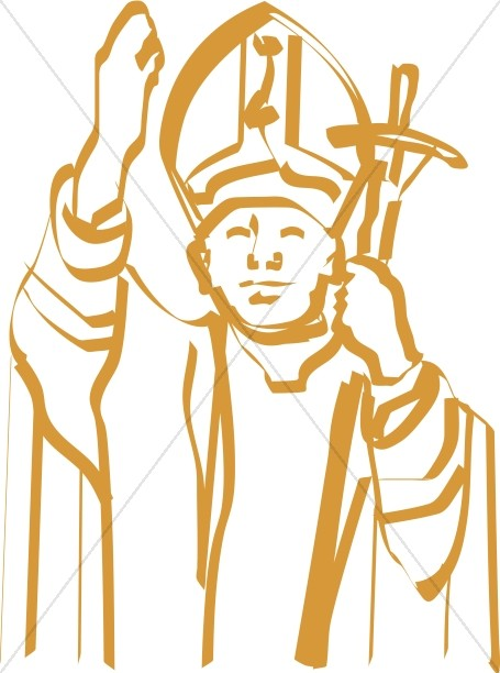 Papal Clipart, Pope Clipart, Papal Graphics.
