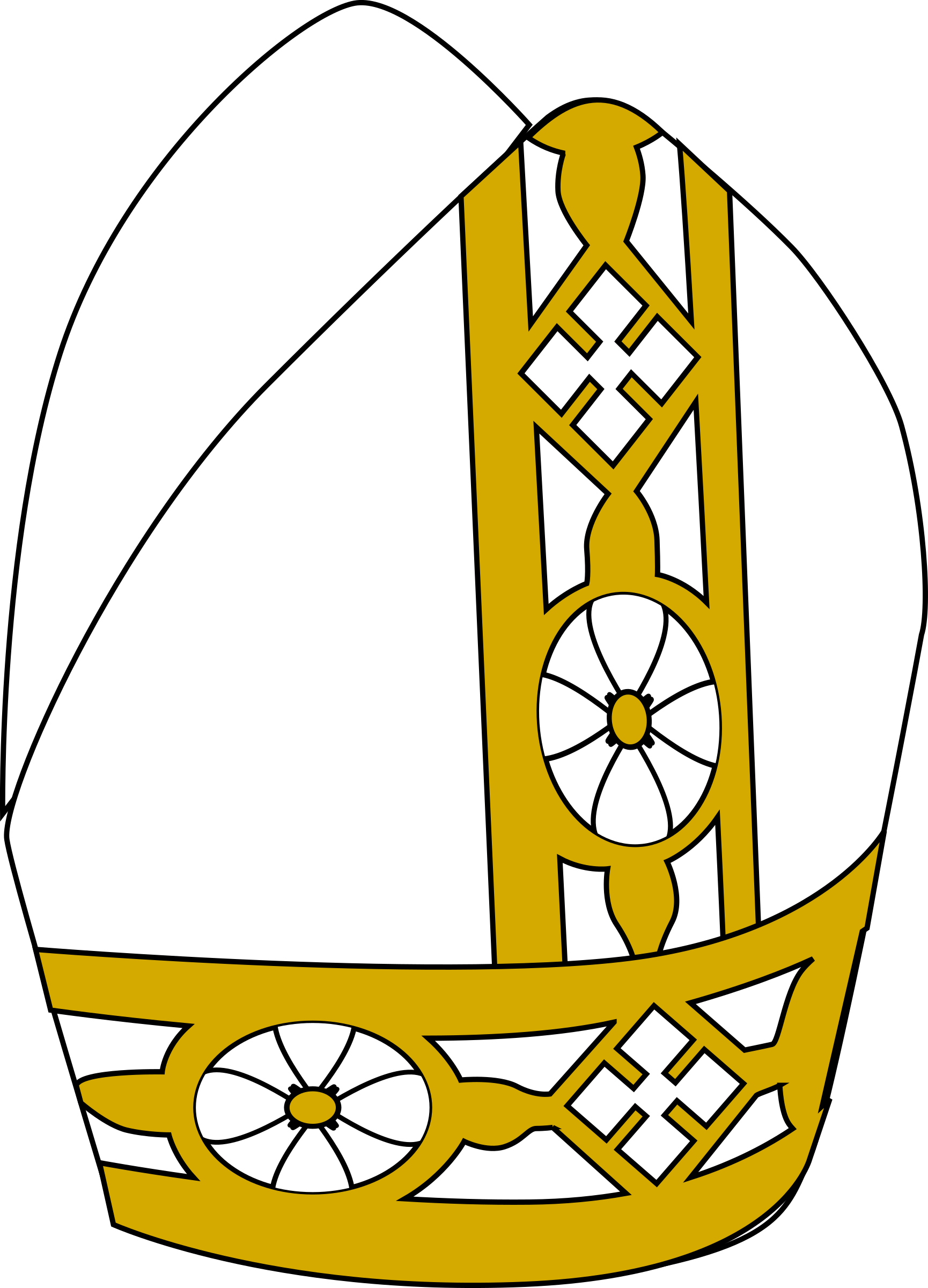Pope Hat Vector Clipart image.