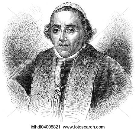 "Stock Photography of ""Pope Pius VII, 1742."