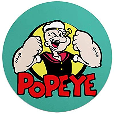 Popeye Logo for Strong Circle Mouse Pad Popeye High Quality.
