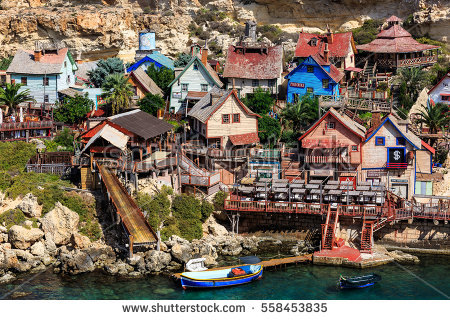 Popeye Village Stock Photos, Royalty.
