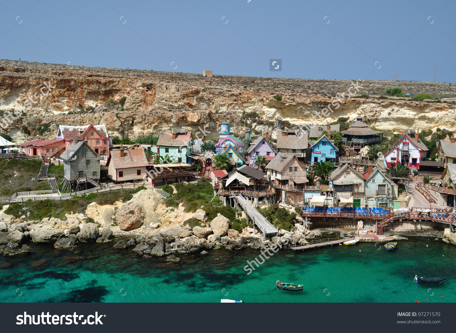Popeye'S Village, Malta Stock Photo 97271570 : Shutterstock.