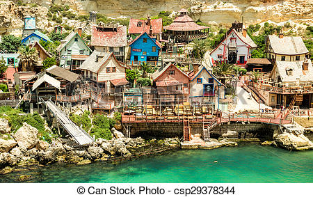 Stock Photo of Popeye village.
