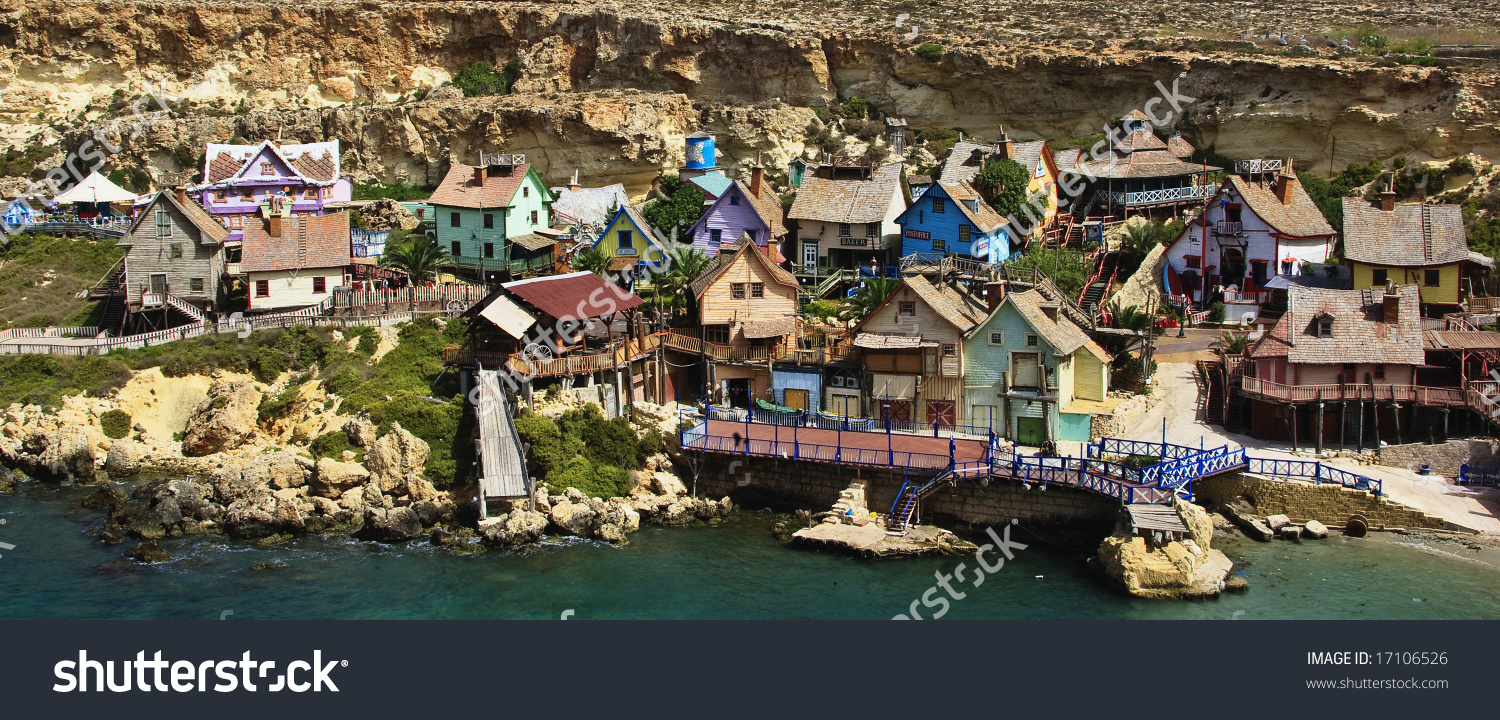 Popeye Village, Malta Stock Photo 17106526 : Shutterstock.