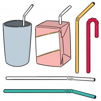 Vector set of straw Vector.