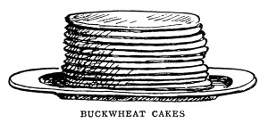 breakfast food clipart, black and white graphics, Mrs Beeton.