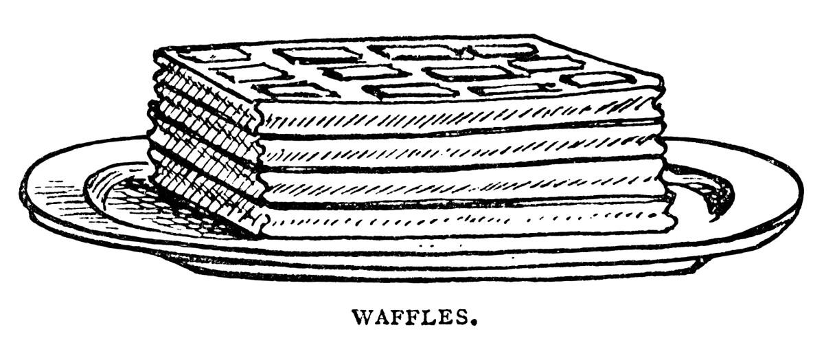 Pancakes Waffles Popovers Vintage Clip Art.