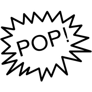 Balloon Popping Clipart.
