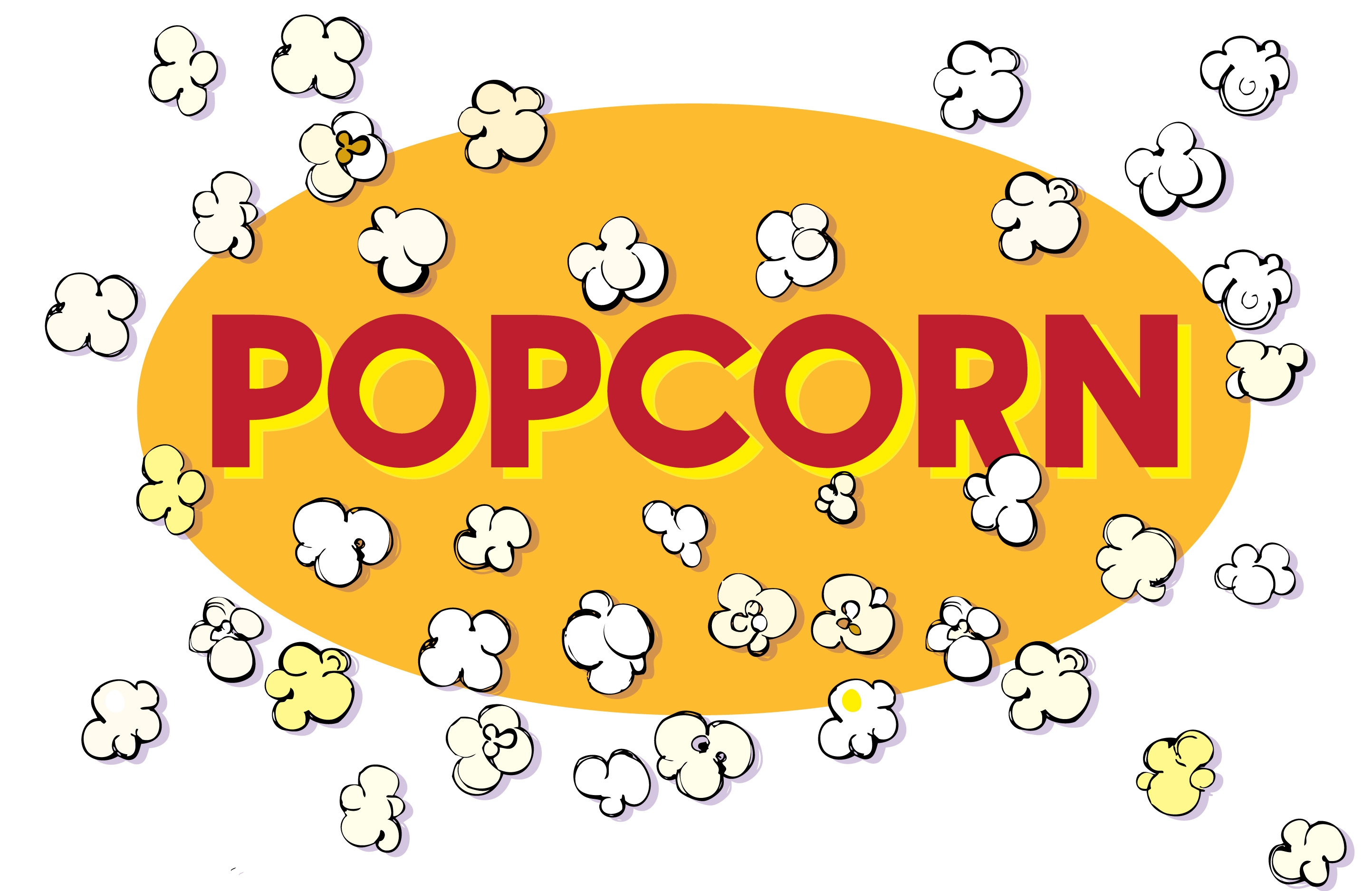 Popcorn black and white popping popcorn clipart.