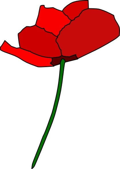 Poppy Flower clip art Free vector in Open office drawing svg.