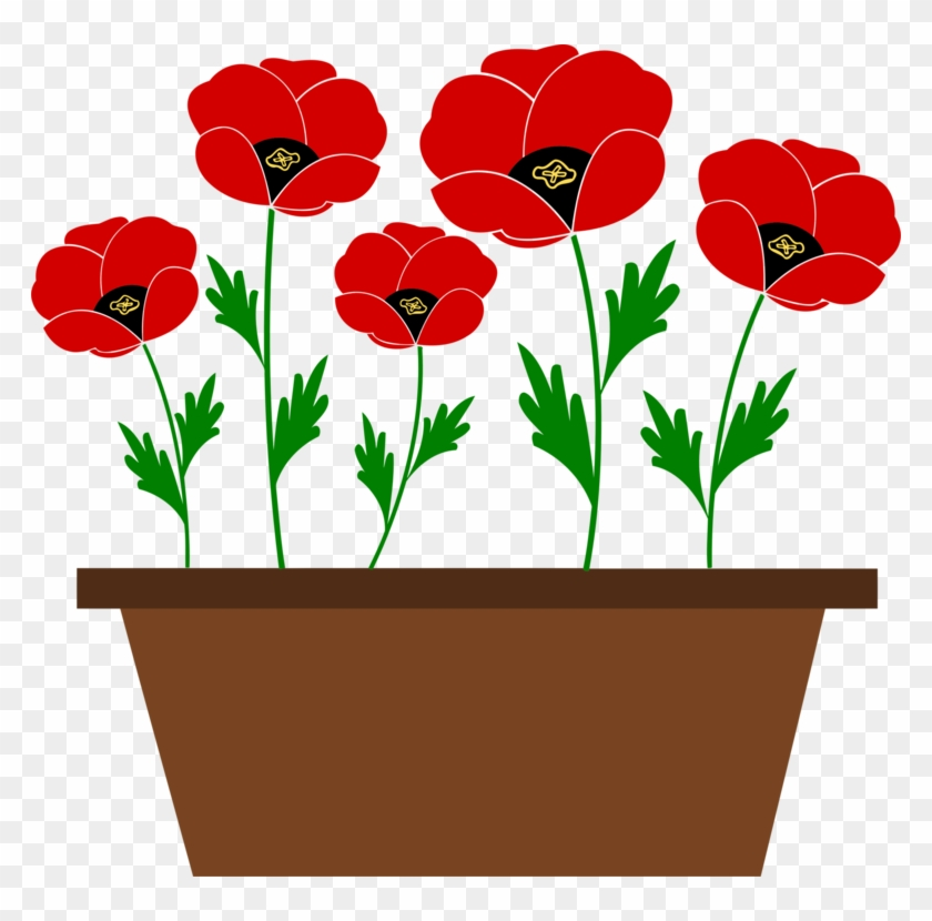 Flowering Pot Plants Clip Art.