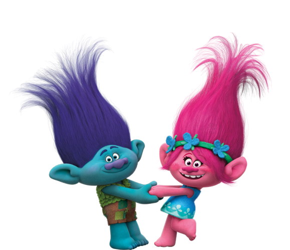 Imagens Poppy e Tronco trolls, Personagens Filme Trolls.