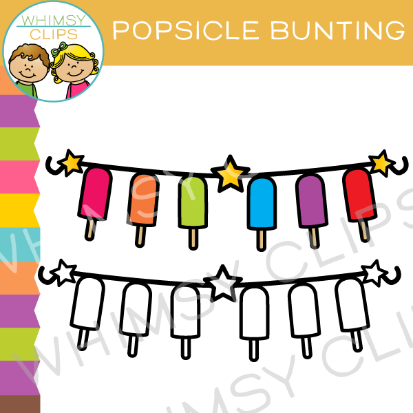 Free Popsicle Bunting Clip Art , Images & Illustrations.