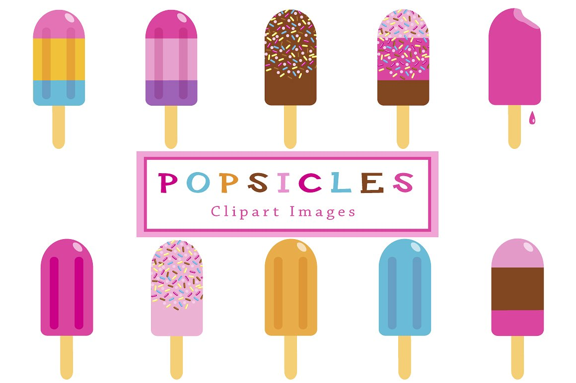 Popsicle clip art Photos, Graphics, Fonts, Themes, Templates.