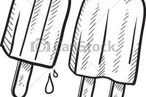 Popsicle clipart black and white 2 » Clipart Station.