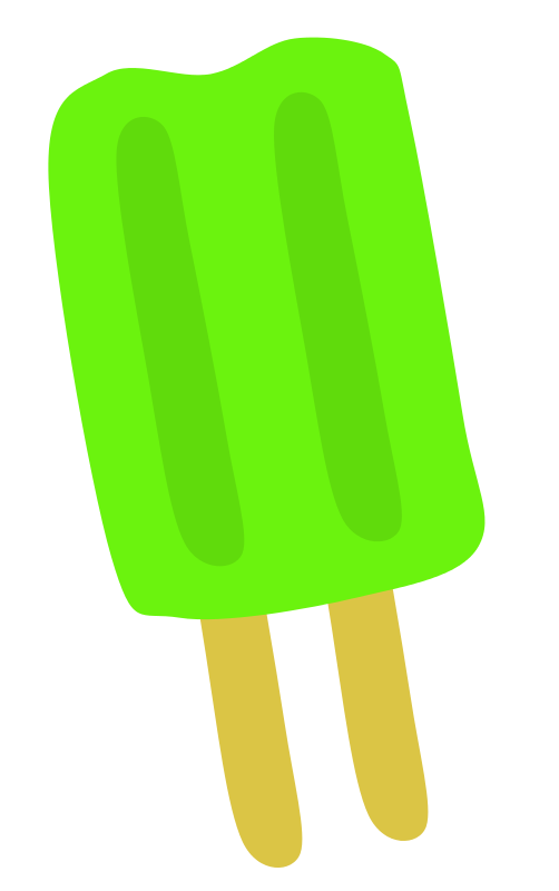 Free Clipart: Green Popsicle.