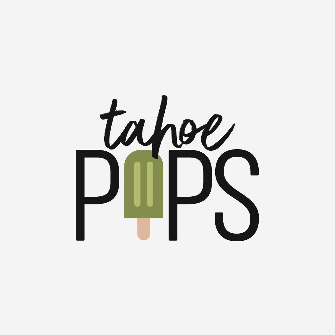 Tahoe Pops Logo Design by Perspektiiv Design Co. Popsicle.
