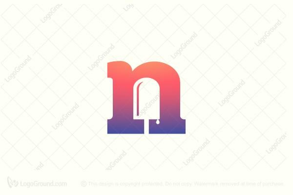 Exclusive Logo 159325, Letter N Popsicle Logo.