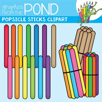 Popsicle Sticks Clipart / Graphics From the Pond in 2019.
