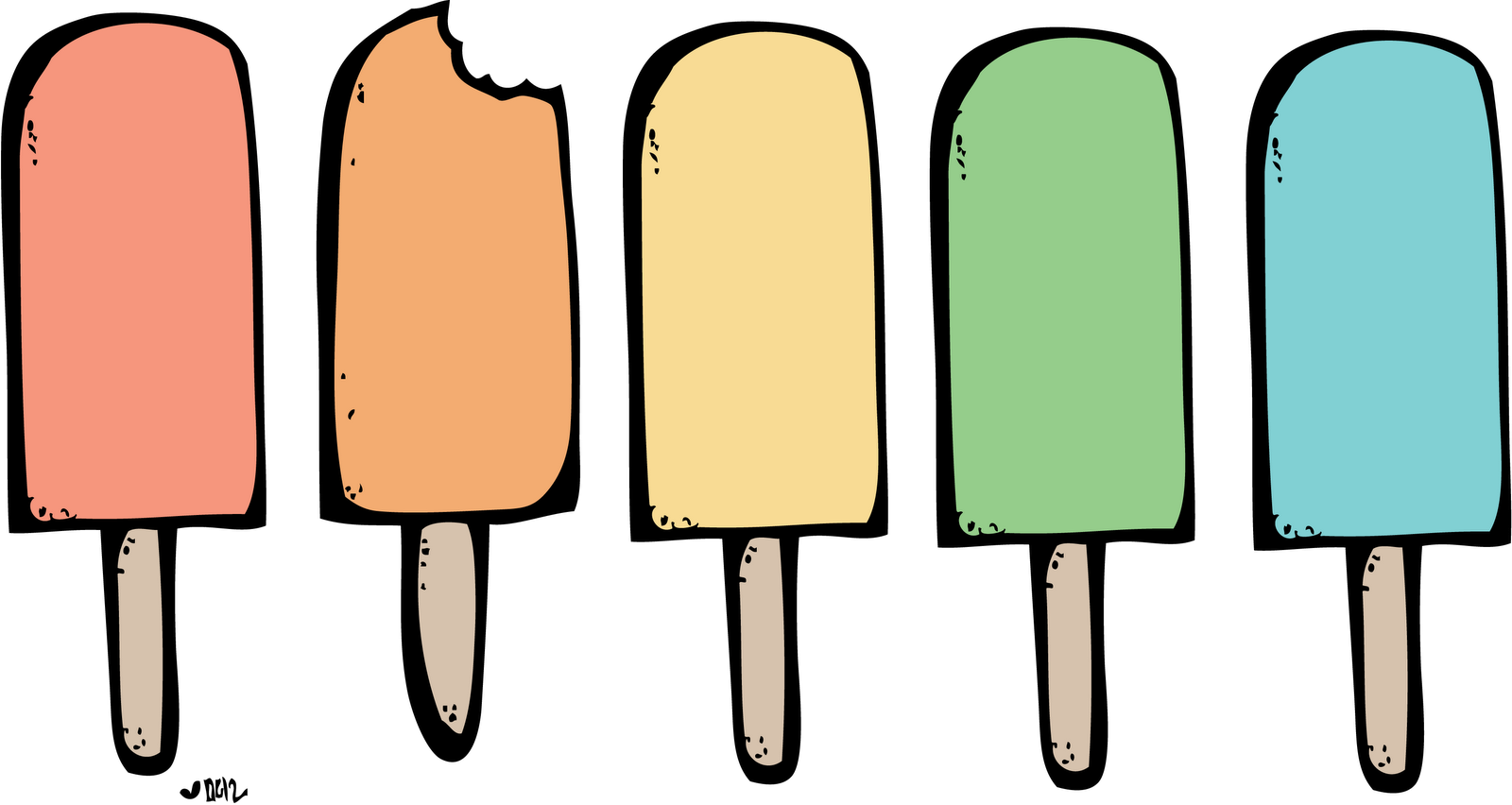 Ice cream popsicle clipart.