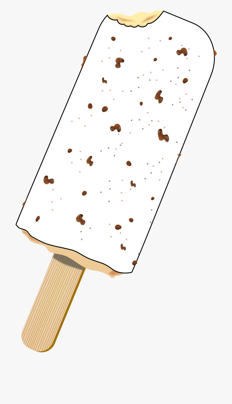 Popsicle Clipart Black And White.