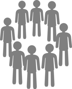 Population Gray Group Clip Art.
