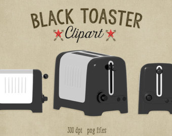 Toaster Clipart mint and silver pop up by ScubamouseStudiosJr.