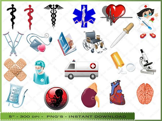 Medical Clipart / Doctor / Nurse Clipart / por Digitalclipartstore.