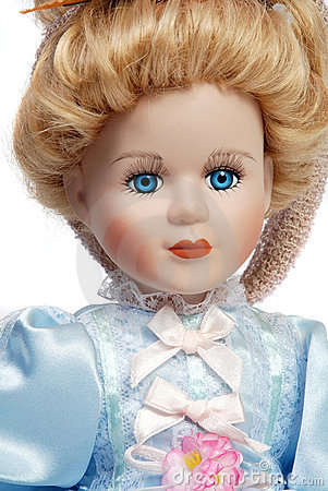 Porcelain Dolls Stock Photos.