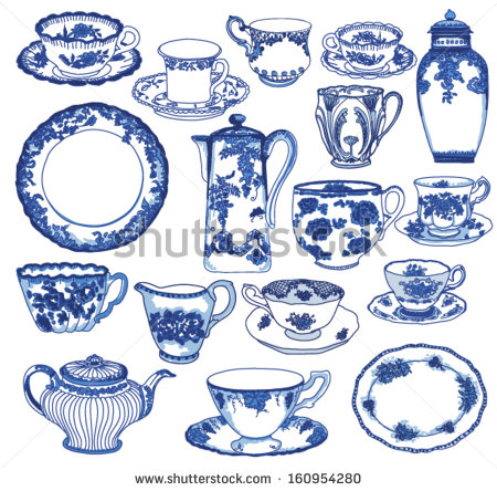 Porcelain Plate Stock Images, Royalty.