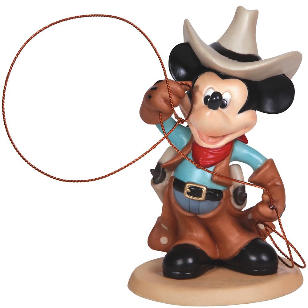 "Disney Showcase Collection, ""Cowboy Mickey"", Bisque Porcelain."