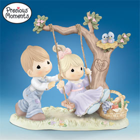 Precious Moments You Make My Heart Swing Collectible Porcelain.
