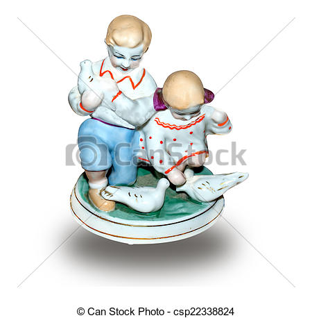 Stock Photo of porcelain figurine.