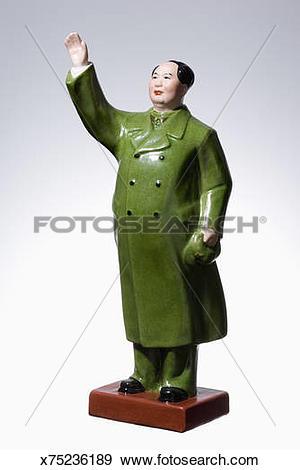 Stock Photograph of Porcelain figurine of Mao Tse.
