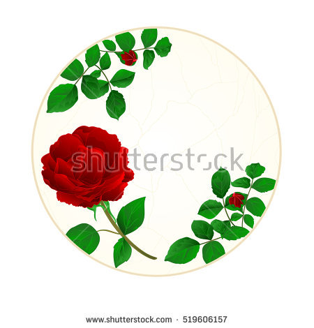 Thorn Roses Circle Stock Photos, Royalty.