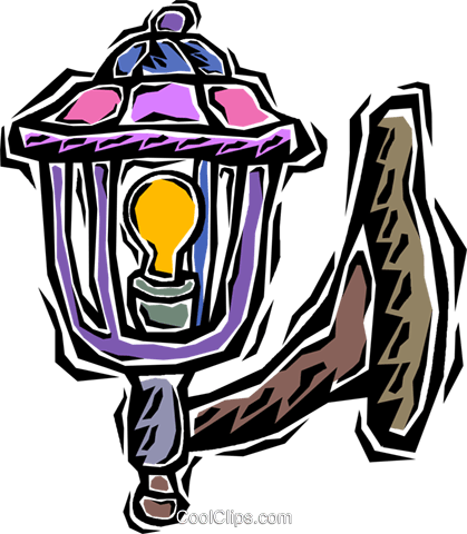 porch light Royalty Free Vector Clip Art illustration.