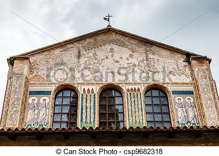 Pictures of Murals of the Euphrasian Church in Porec, Croatia.