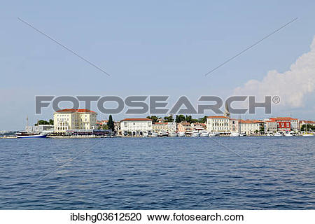 "Stock Photography of ""View of Porec from the Sveti Nikola island."