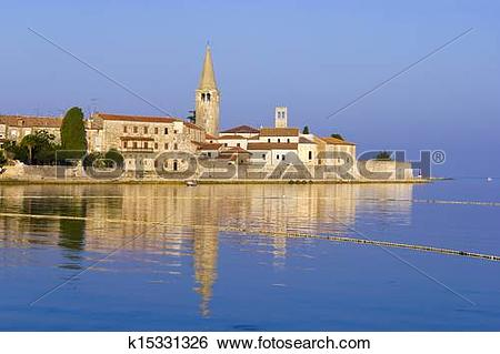Stock Images of Porec in the dawn sun k15331326.
