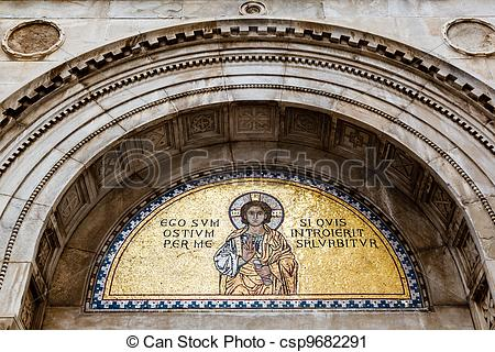 Stock Photography of Golden Mural in the Euphrasian Church, Porec.