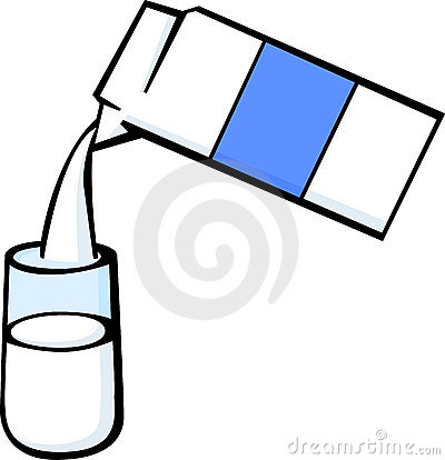 Pouring Milk Clipart.