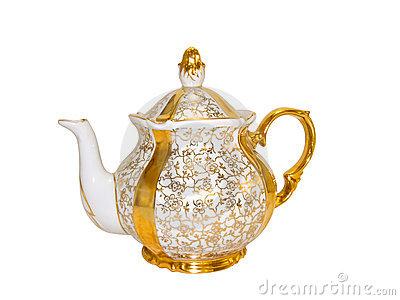 Antique Porcelain, China Fruit Vase. Royalty Free Stock Image.