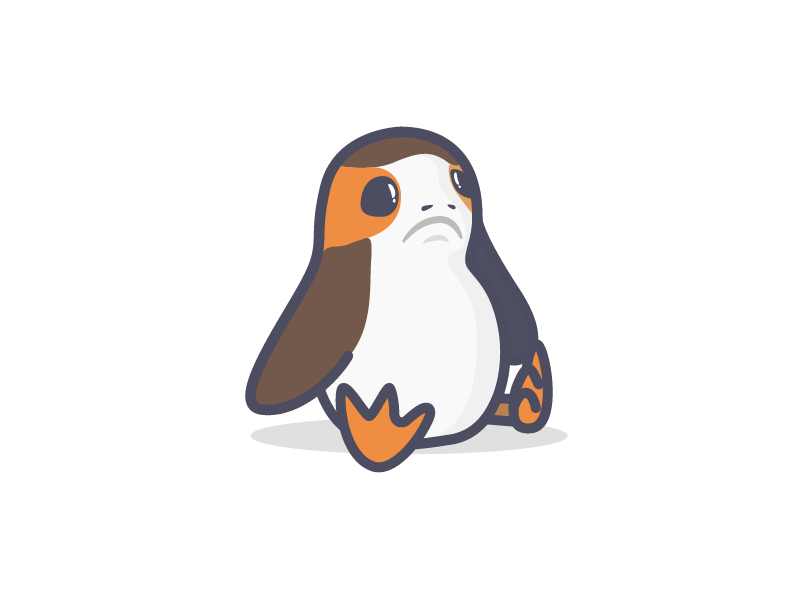 Porg by Bilgn on Dribbble.