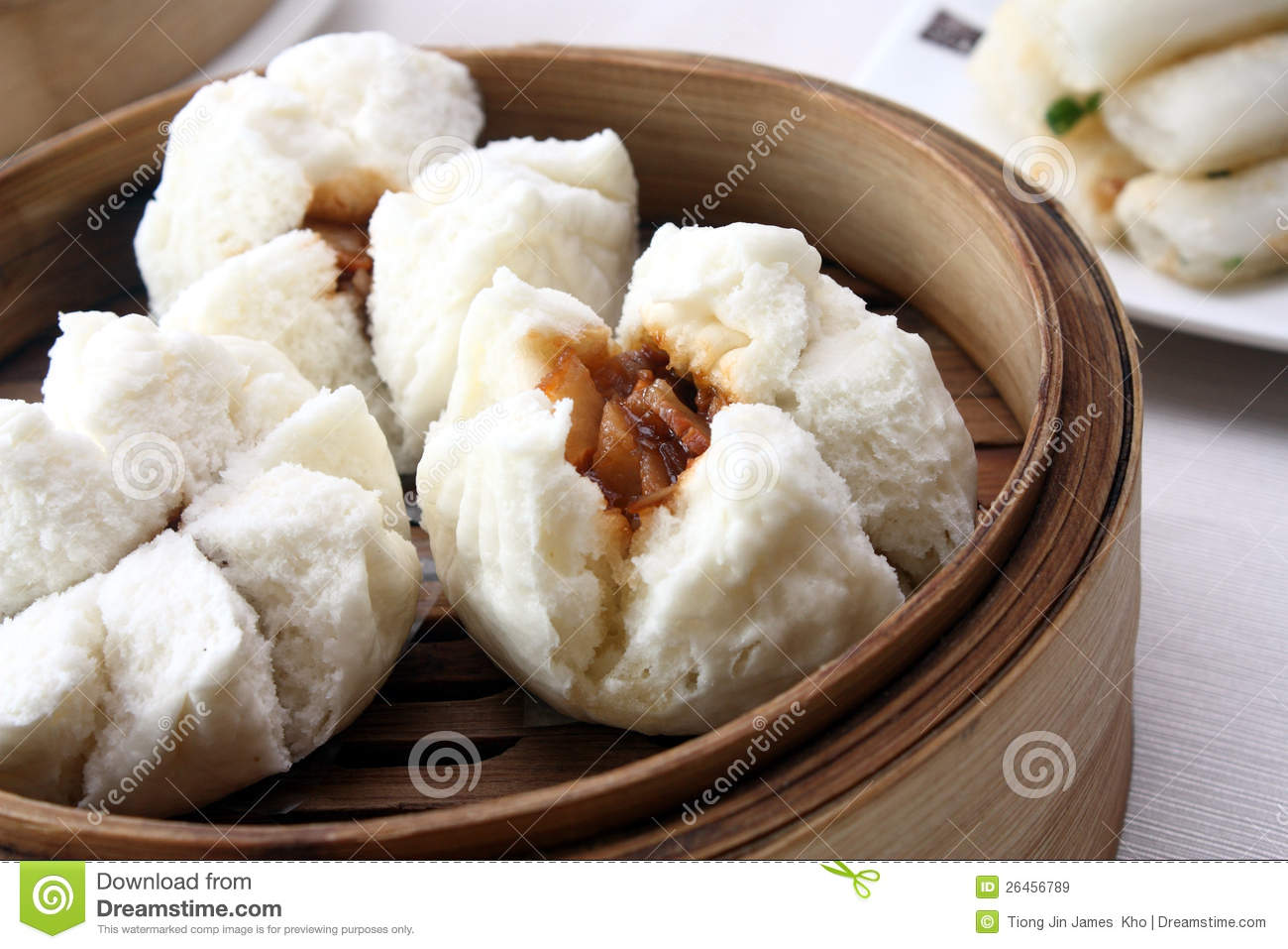 Steamed Barbecue Pork Bun Royalty Free Stock Images.